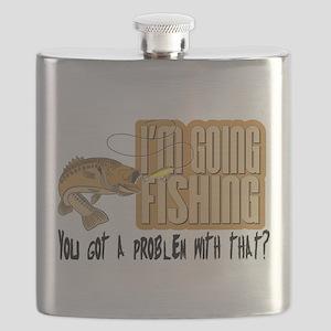 I'm Going Fishing Flask
