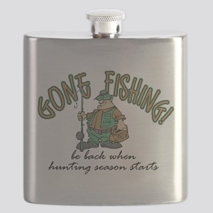Gone Fishing - Hunting Season Flask