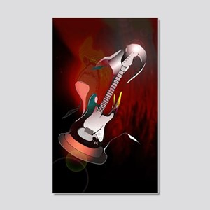 """Guitar Melody"" 20x12 Wall Decal"