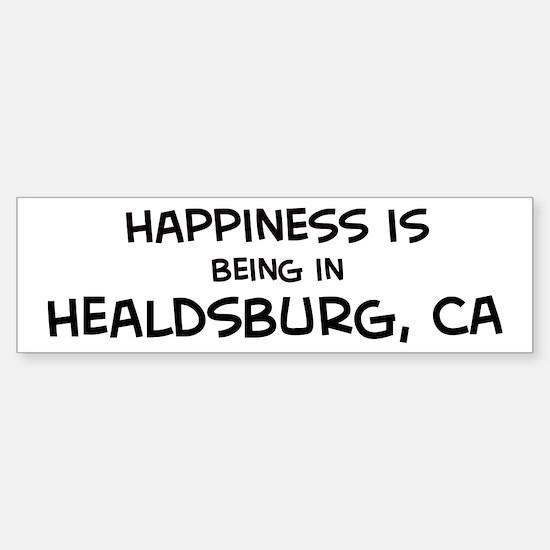 Healdsburg - Happiness Bumper Bumper Bumper Sticker