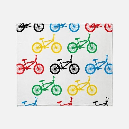 BMX Bikes Throw Blanket