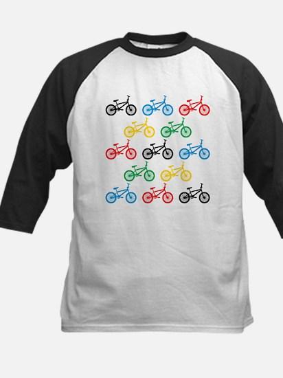 BMX Bikes Kids Baseball Jersey