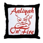 Aaliyah On Fire Throw Pillow