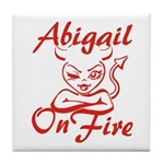 Abigail On Fire Tile Coaster