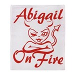 Abigail On Fire Throw Blanket