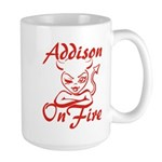 Addison On Fire Large Mug