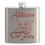 Addison On Fire Flask