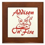 Addison On Fire Framed Tile
