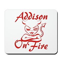 Addison On Fire Mousepad