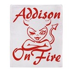 Addison On Fire Throw Blanket