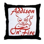 Addison On Fire Throw Pillow