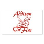 Addison On Fire Sticker (Rectangle)