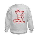 Alexa On Fire Kids Sweatshirt