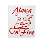 Alexa On Fire Throw Blanket