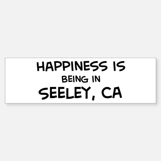 Seeley - Happiness Bumper Bumper Bumper Sticker