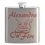 Alexandra On Fire Flask