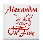 Alexandra On Fire Tile Coaster