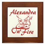 Alexandra On Fire Framed Tile