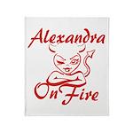 Alexandra On Fire Throw Blanket