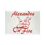 Alexandra On Fire Rectangle Magnet