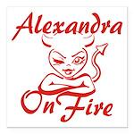 Alexandra On Fire Square Car Magnet 3
