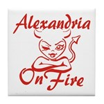 Alexandria On Fire Tile Coaster