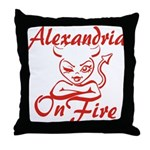 Alexandria On Fire Throw Pillow