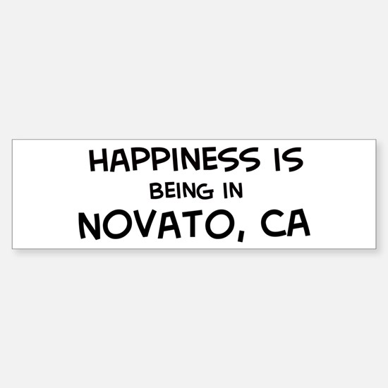 Novato - Happiness Bumper Bumper Bumper Sticker
