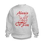 Alexis On Fire Kids Sweatshirt