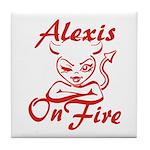 Alexis On Fire Tile Coaster