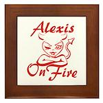 Alexis On Fire Framed Tile