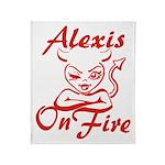 Alexis On Fire Throw Blanket