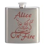 Alice On Fire Flask