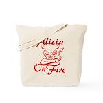 Alicia On Fire Tote Bag