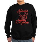 Alicia On Fire Sweatshirt (dark)
