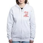 Alicia On Fire Women's Zip Hoodie