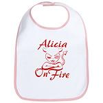 Alicia On Fire Bib