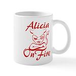Alicia On Fire Mug