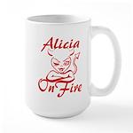 Alicia On Fire Large Mug