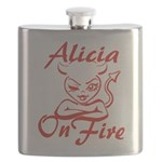 Alicia On Fire Flask