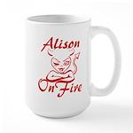 Alison On Fire Large Mug