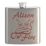 Alison On Fire Flask