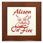 Alison On Fire Framed Tile