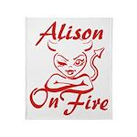 Alison On Fire Throw Blanket