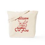 Allison On Fire Tote Bag