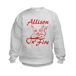 Allison On Fire Kids Sweatshirt