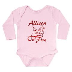 Allison On Fire Long Sleeve Infant Bodysuit
