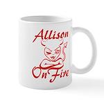 Allison On Fire Mug