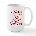 Allison On Fire Large Mug