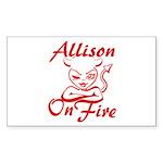 Allison On Fire Sticker (Rectangle)